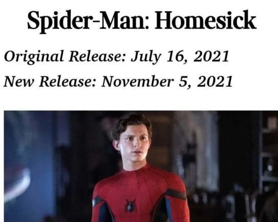 荷兰弟版《蜘蛛侠3》将于明年年初开拍电影2021年底上映