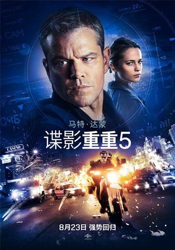 《谍影重重5》明天发布 马特·达蒙将回归释放荷尔蒙