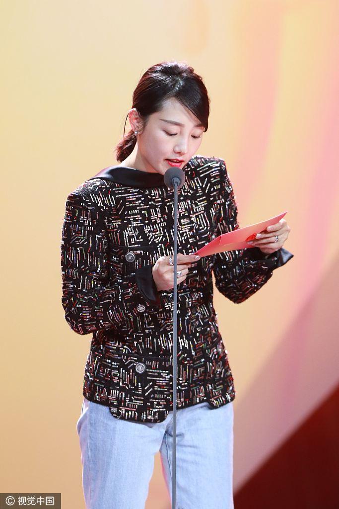 白百何出轨门后首亮相 为范冰冰颁最佳女演员奖