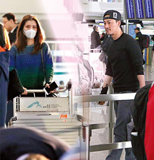 林峰吴千语赴日滑雪 女友见记者急给男友打电话