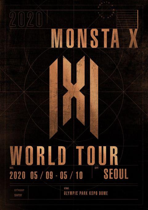 Monsta X 第四次世巡即将开跑 5月在首尔连唱两天!