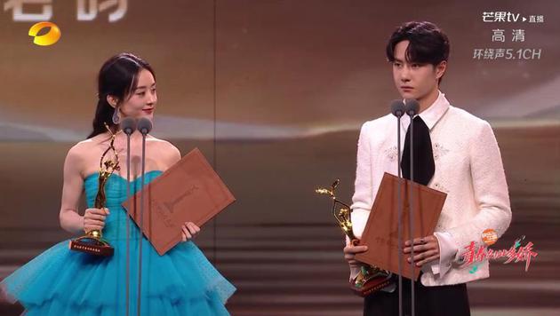 王一博赵丽颖获第30届金鹰奖观众喜爱的男女演员