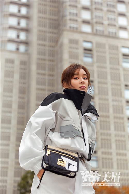 袁姗姗《ViVi美眉》封面玩转街头风