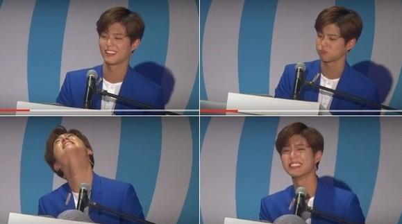 【博狗扑克】朴宝剑台湾演唱《小幸运》情绪激动泪崩