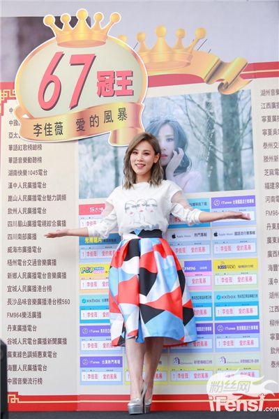 李佳薇新专辑《爱的风暴》取得傲人成绩