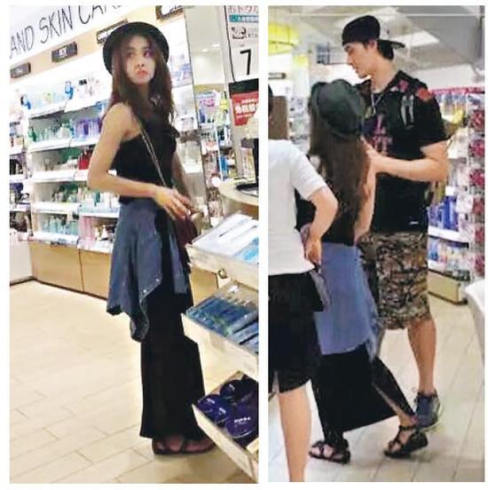 蔡依林锦荣日本过七夕 甜蜜逛街大量购物
