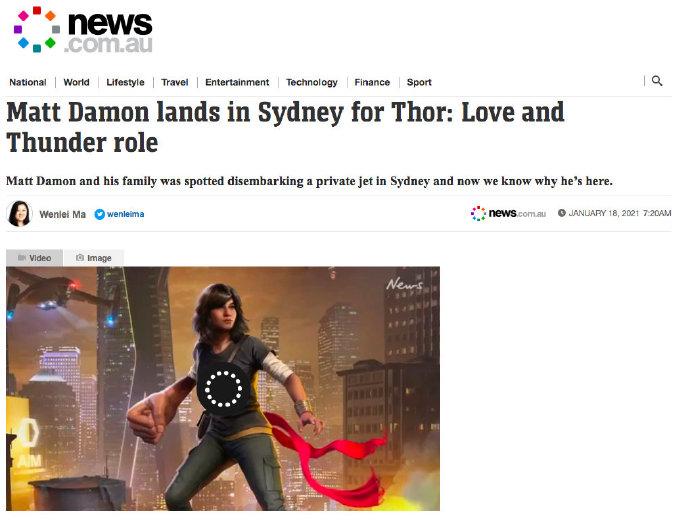马特·达蒙加入《雷神4:爱与雷霆》 角色尚未揭晓