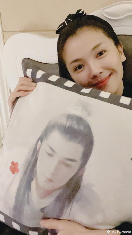 刘涛抱梅长苏枕头 房间全是《琅琊榜》周边