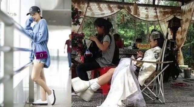 刘诗诗与朱一龙甜蜜相拥,脚穿增高鞋是亮点