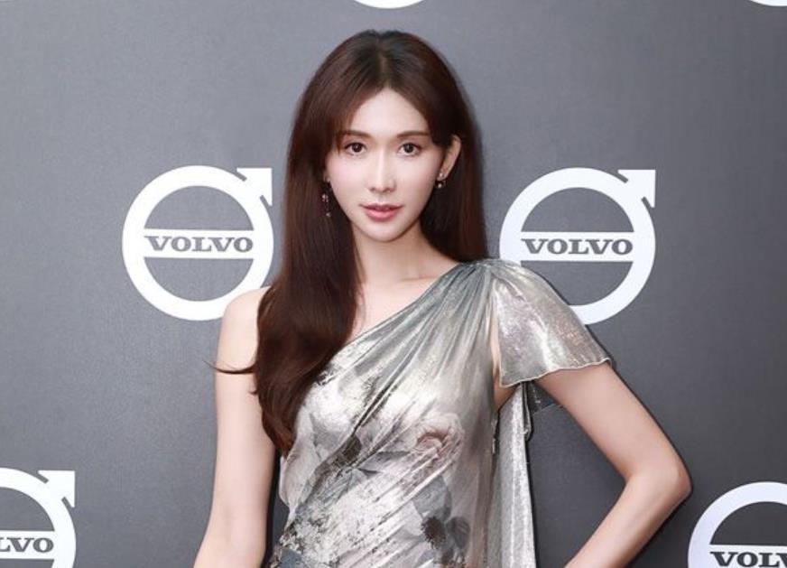 林志玲亮相台北活动 银色晚礼服诠释高贵典雅