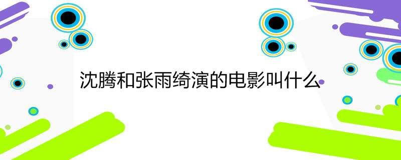 沈腾和张雨绮演的电影叫什么