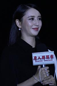 《唐人街探案》发布会 佟丽娅孕后首亮相