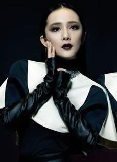 杨幂最新杂志封面 哥特妆容诡异另类