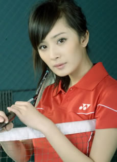 杨幂早期体育杂志写真 青涩少女气质