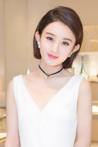 赵丽颖白裙气质高贵 披白纱梦幻唯美
