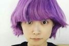 这样呆萌的李宇春你见过吗?紫色蘑菇头抢镜