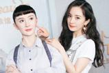 杨幂与蜡像合照 网友调侃蜡像发型撞脸大头儿子