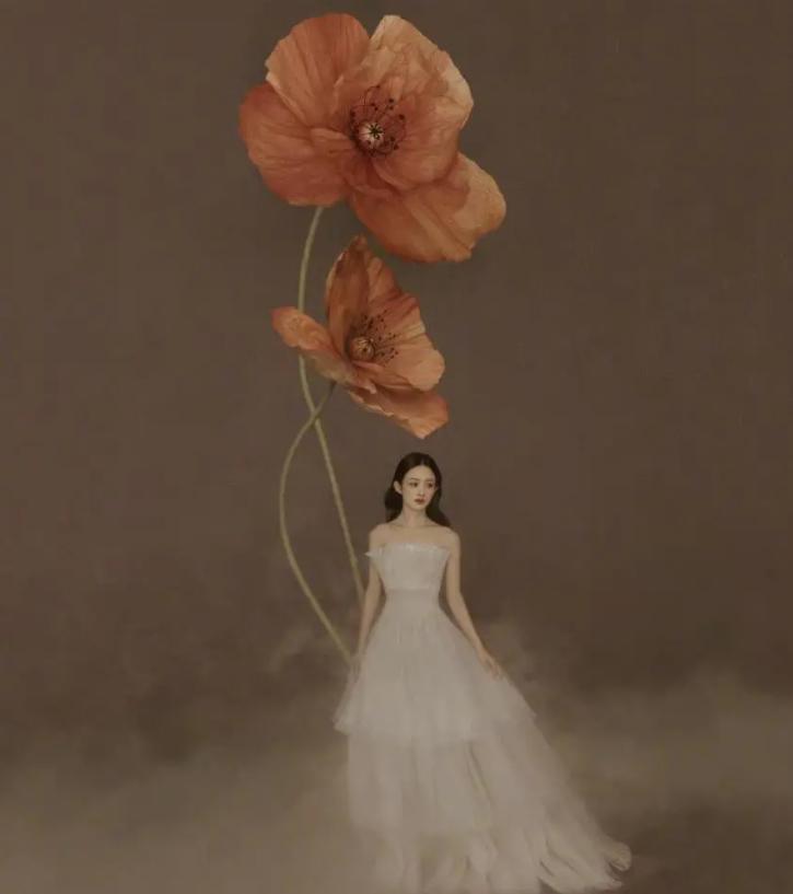 赵丽颖推出花间大片,有如仙子